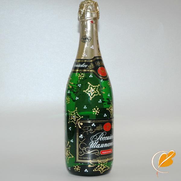украшение бутылок на новый год - Веб2.0